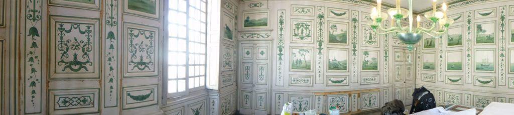 Restauration du Salon de l'Armateur, Maison Louis XIV, Saint Jean-de-Luz (64) sous la direction de Marie Gouret. Site classé MH